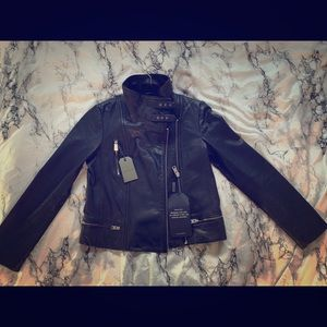 All Saints black leather jacket new/never worn